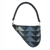 Denim Patchwork Clutch, Vintage Wash