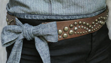 "Load image into Gallery viewer, ""Timber"" Deco Studs Wrap Belt"