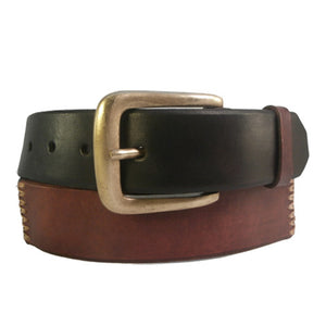 Leather Belt Colorful Stiched studs