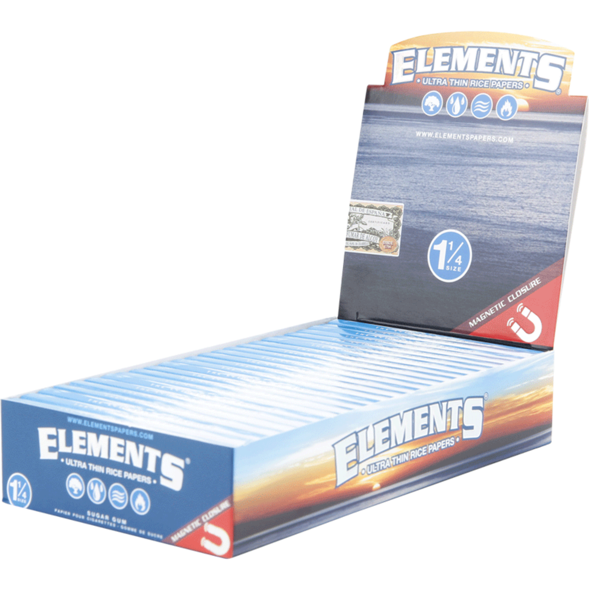 ELEMENTS ULTRA THIN RICE PAPER 1 1/4 (Box Of 25) - 360 Alternative