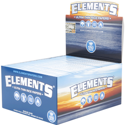 ELEMENTS ULTRA KING SIZE RICE PAPER (Box Of 50) - 360 Alternative