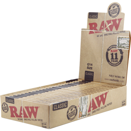 RAW NATURAL UNREFINED 1 1/4 (Box Of 24) - 360 Alternative