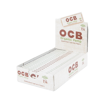 OCB Rolling Paper Unbleached Organic Hemp 1 1/4 (Box Of 24) - 360 Alternative