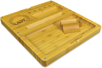 RAW Back Flip Bamboo Rolling Tray - 360 Alternative