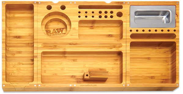 RAW Triple Flip Bamboo Rolling Tray - 360 Alternative