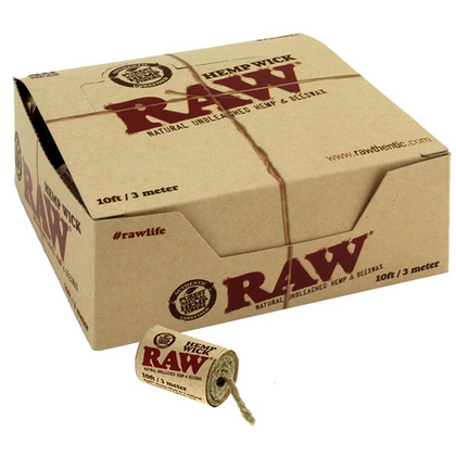 Raw Hemp Wick 10ft - 360 Alternative