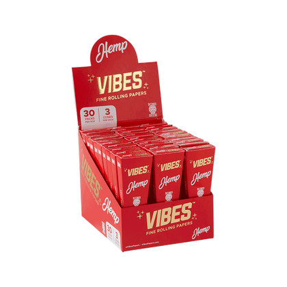 Vibes Cones Hemp - King Size (Box Of 30) - 360 Alternative