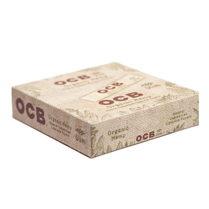 OCB Rolling Paper Unbleached Organic Hemp King Slim Size (Box Of 24) - 360 Alternative