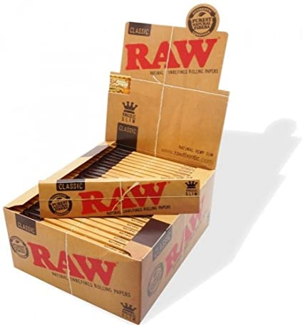 RAW Rolling Paper Classic King Size Slim (Box Of 50) - 360 Alternative