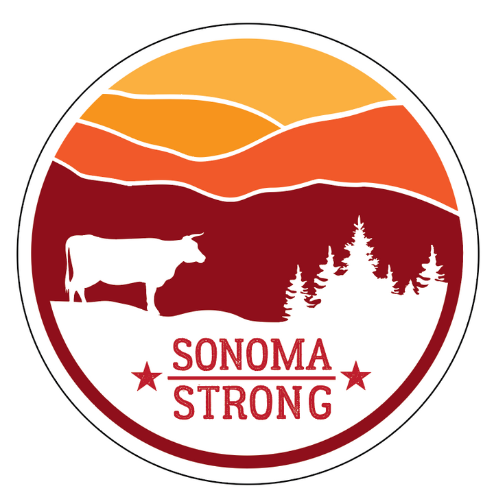 Sonoma Strong Sticker 4""