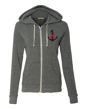 Women's Full Zip Hooded Sweatshirt
