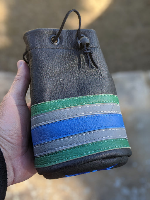 Black with Grey/Green/Blue Valet Sack