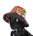 Carretto Print Wide Brim Bucket Hat