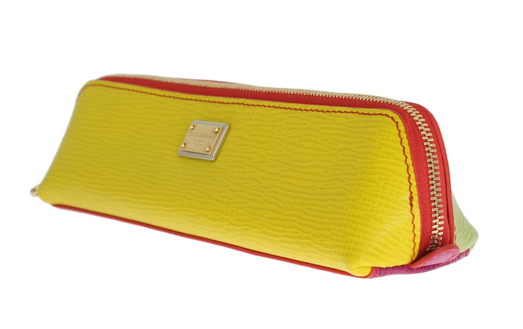 Multicolor Leather Toiletry Make Up Case