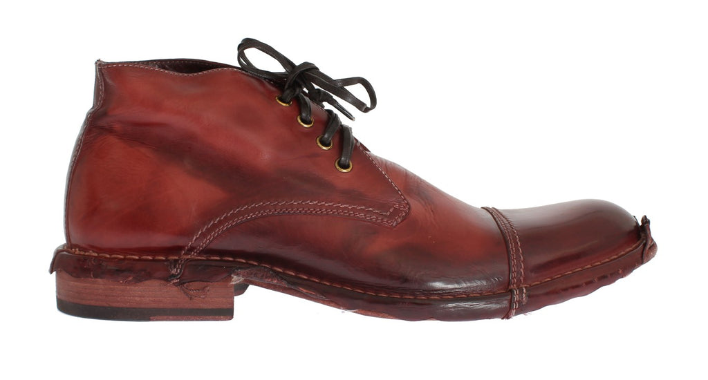 Bordeaux Leather Ankle Chukka Boots