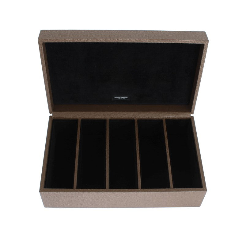 Brown Leather Watch Jewelry Sunglasses Case