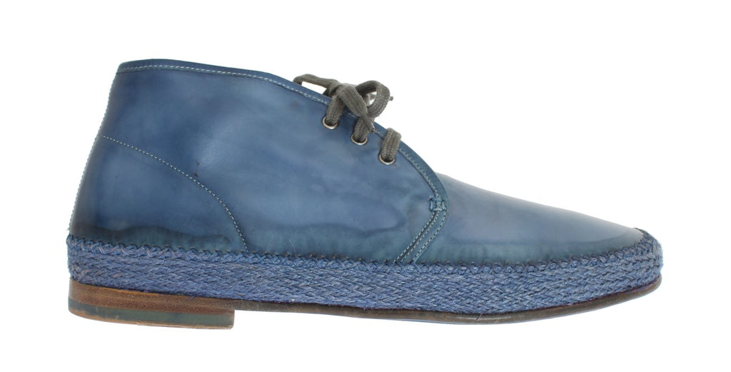 Blue Crust Leather Chukka Ankle Boots