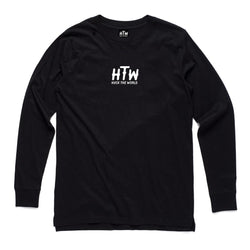 "HTW - ""Logo"" Centre Chest L/S Black"
