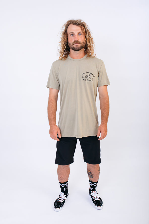 "HTW - ""Gong MTB"" S/S Tech Ride Tee Dusty Olive"