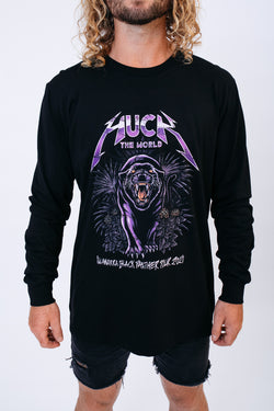 "HTW - ""PANTHER"" L/S Cotton Tee Black"