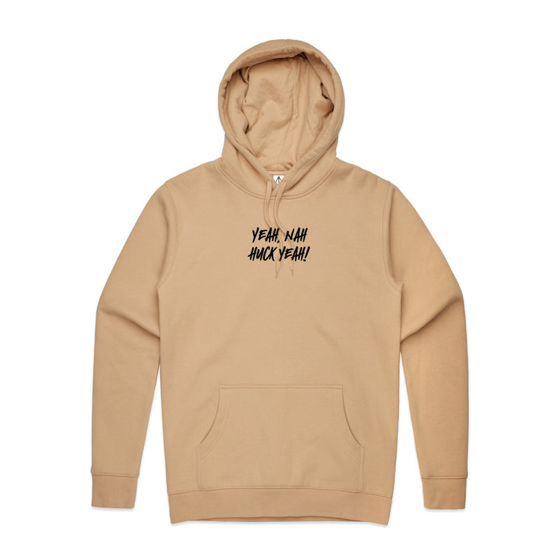 "HTW - ""Yeah Nah"" Embro Hood Dusty Tan"