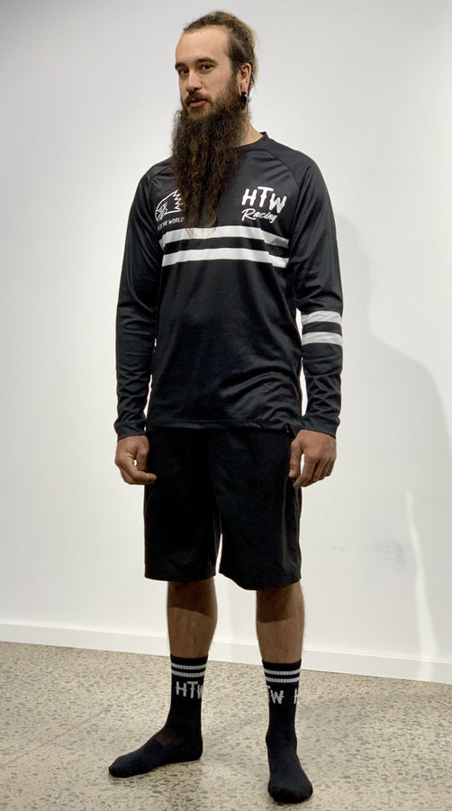 "HTW - COMBO ""Race"" Stripe Tech Jersey & Sock Pack"