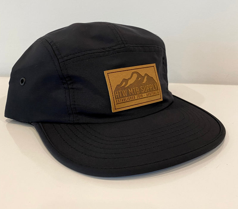 "HTW - ""Mountains"" Nylon 5-Panel Black"