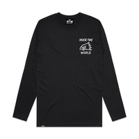 "HTW - ""Huck The World Eagle"" L/S Tech Ride Tee Black"
