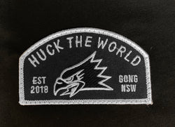 HTW Gong Eagle Patch Town Tee Black Close View