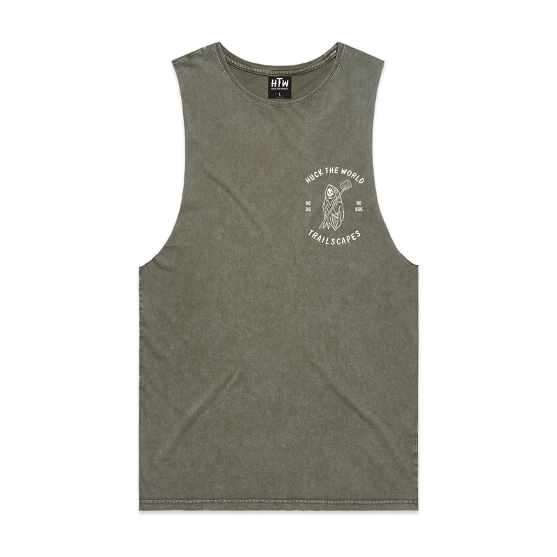 HTW - Trailscapes Collab Tank Acid Khaki