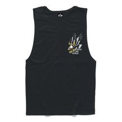 "HTW - ""FLASH EAGLE"" Cotton Muscle Black"