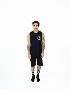 "HTW - ""Pizza"" S/S Tech Ride Muscle Black"