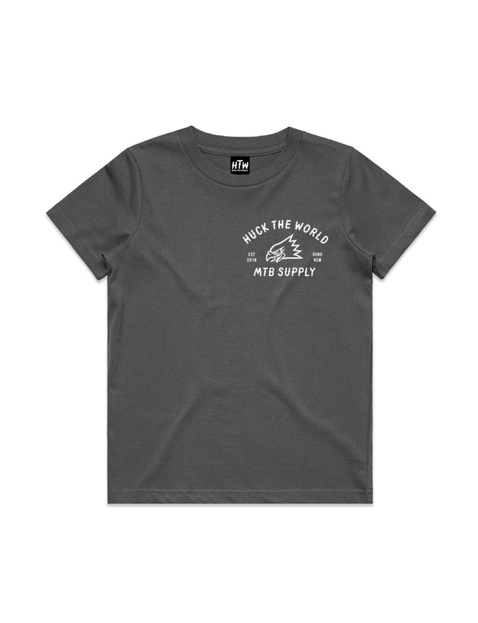 "HTW - ""Gong MTB"" Youth Cotton Tee Charcoal"