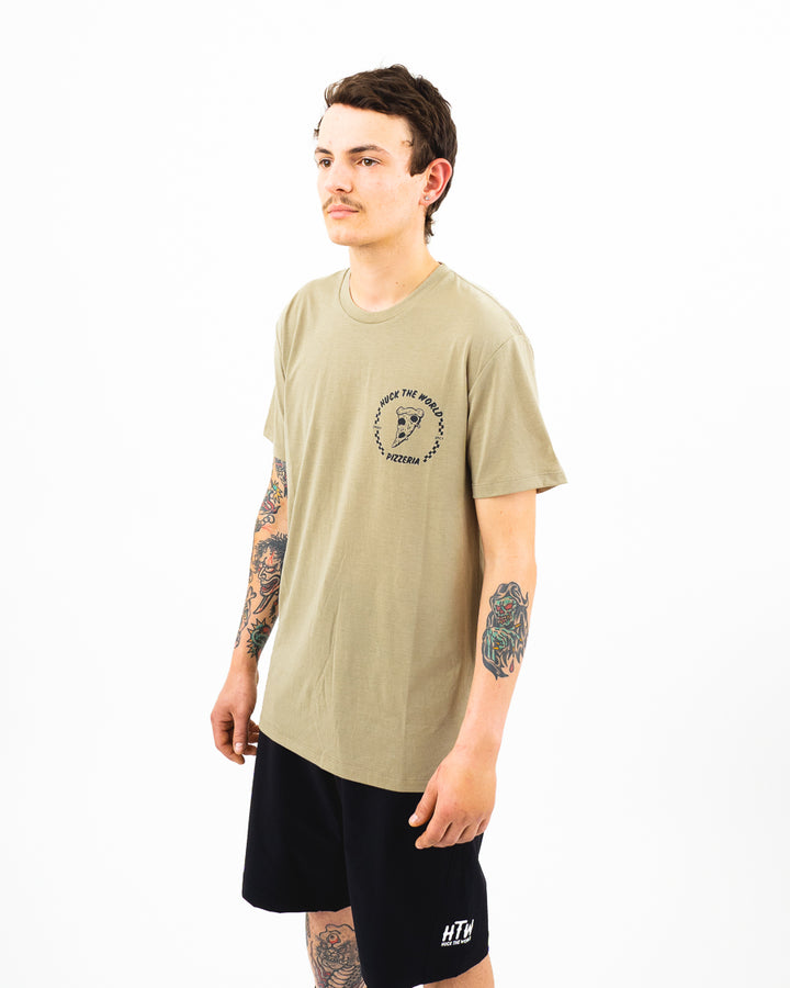 "HTW - ""Pizza"" S/S Tech Ride Tee Dusty Olive"