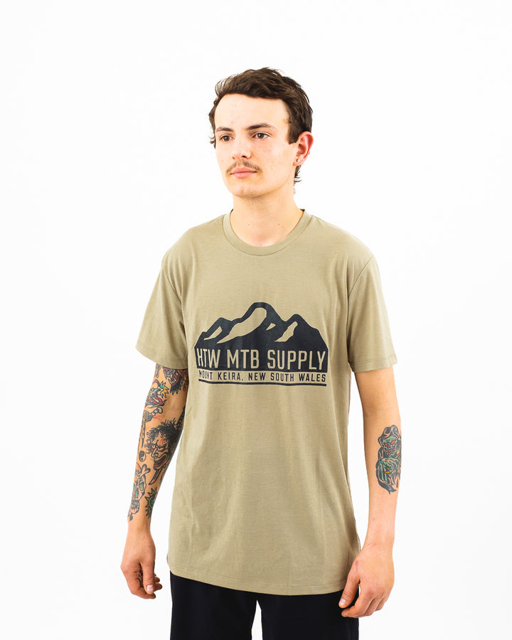 "HTW - ""Mountain"" S/S Tech Ride Tee Dusty Olive"