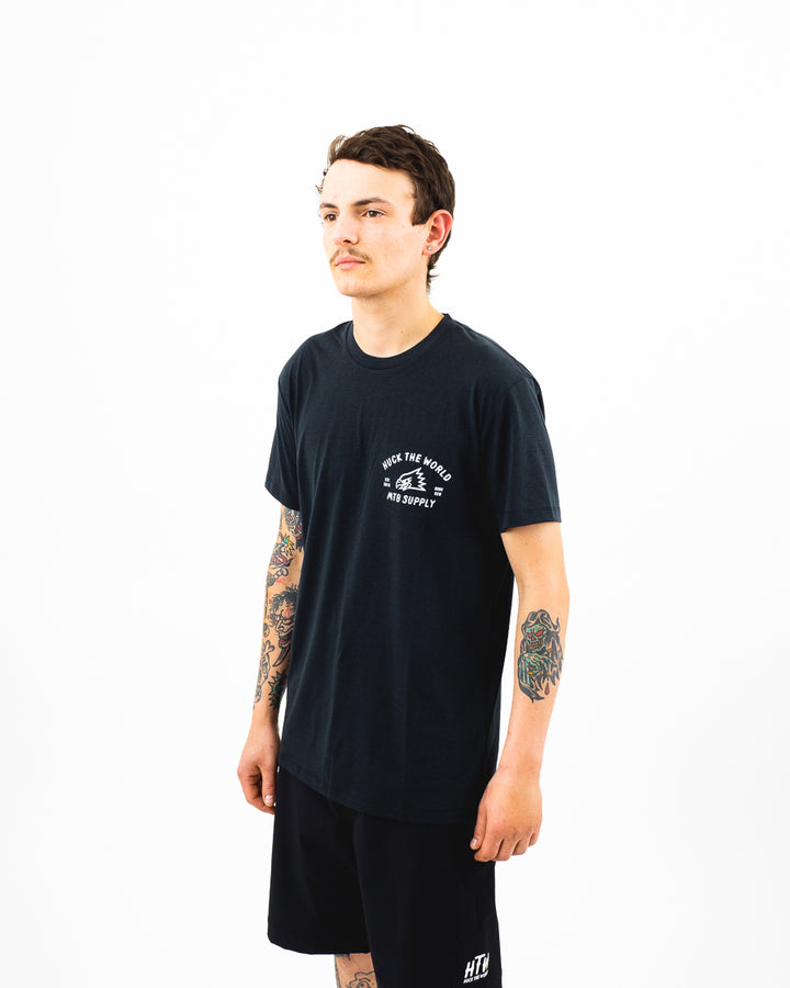 "HTW - ""Gong MTB"" S/S Tech Ride Tee Black"