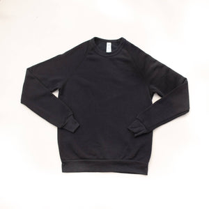 Rah-Rah Essentials | Charcoal Black Crewneck Sweatshirt