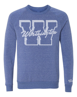 Worthington Block W Unisex Sweatshirt | Pacific Blue