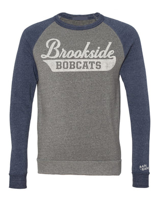Brookside Script Adult Colorblock Sweatshirt