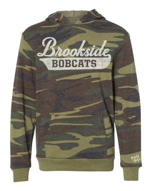Brookside Script Youth Camo Hoodie