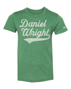 Daniel Wright YOUTH Script Tee | Green