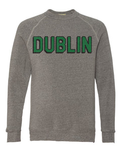 Dublin Block Crewneck Sweatshirt | Heather Grey