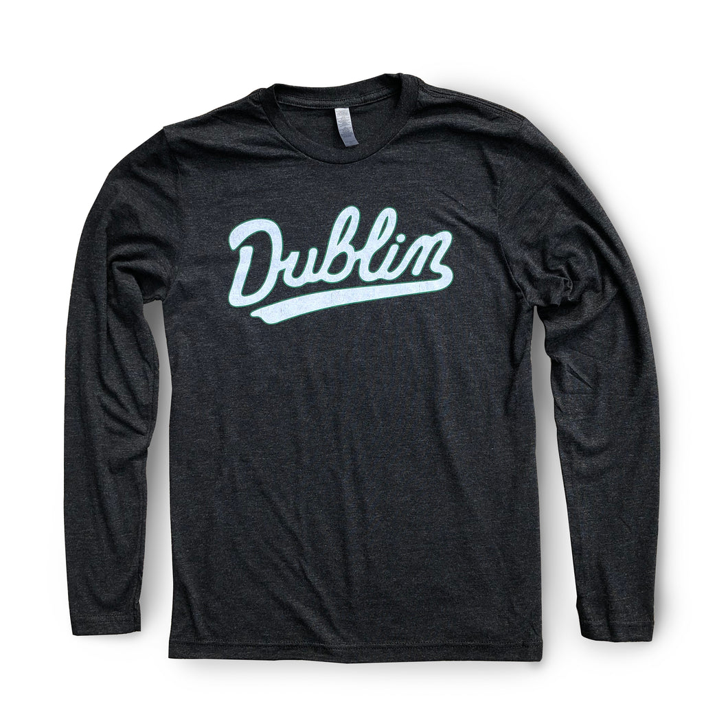 Script Dublin Long Sleeve | Vintage Black