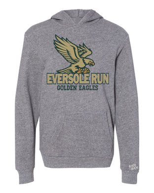 Eversole Flying Eagle Youth Grey Hoodie