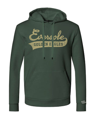 Eversole Script Adult Unisex Hoodie | Forest Green