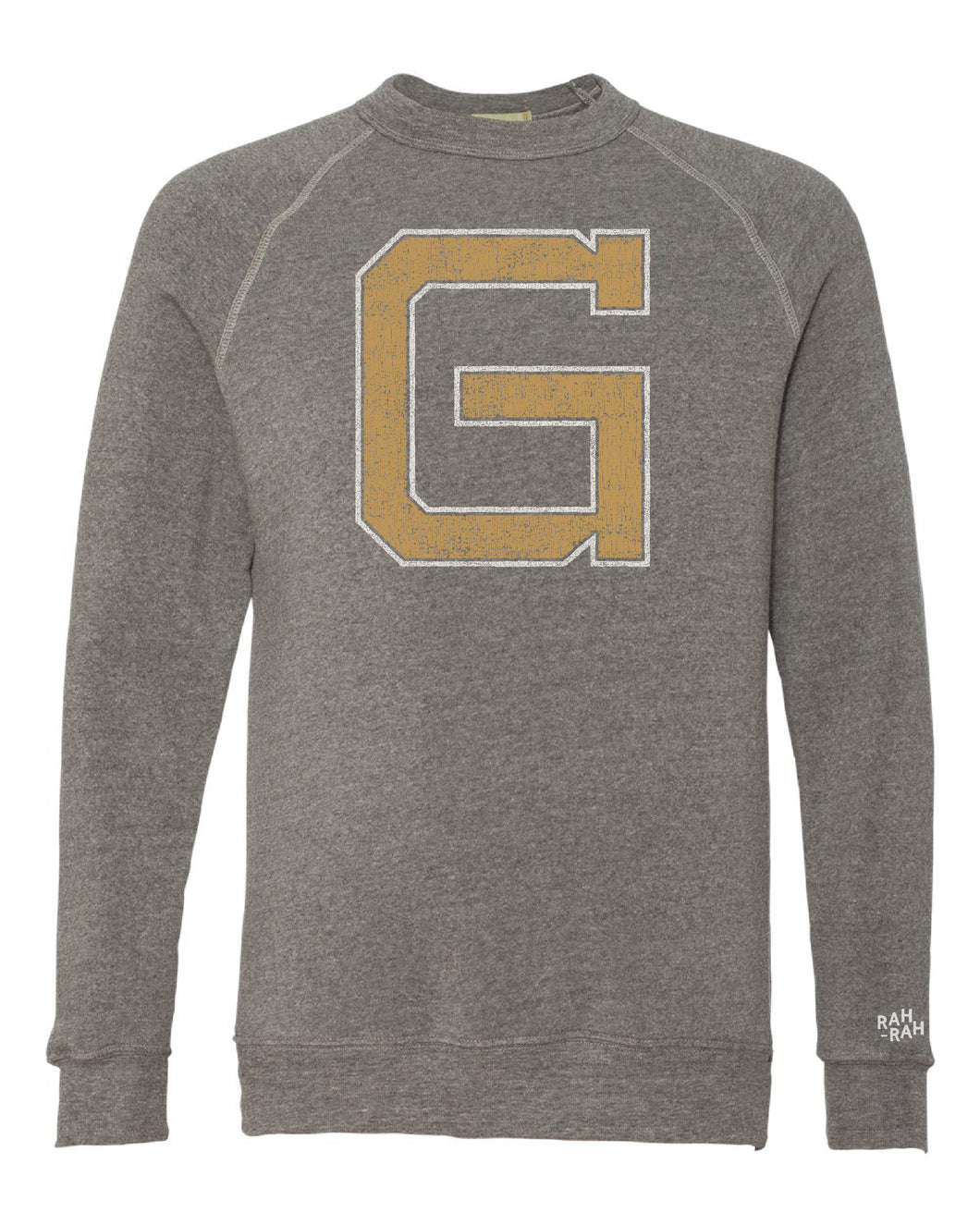 Grizzell Block G Adult Unisex Crewneck Sweatshirt | Heather Grey