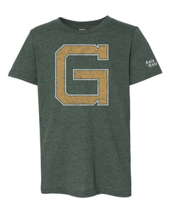 Grizzell Block G Youth Tee | Vintage Forest