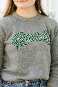 Rocks Throwback Sweatshirt | Heather Grey | RESTOCK!
