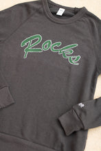 Load image into Gallery viewer, Rocks Throwback Sweatshirt in Charcoal-Black