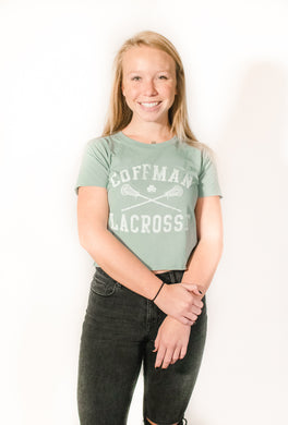 Coffman LAX Crop Top Tee